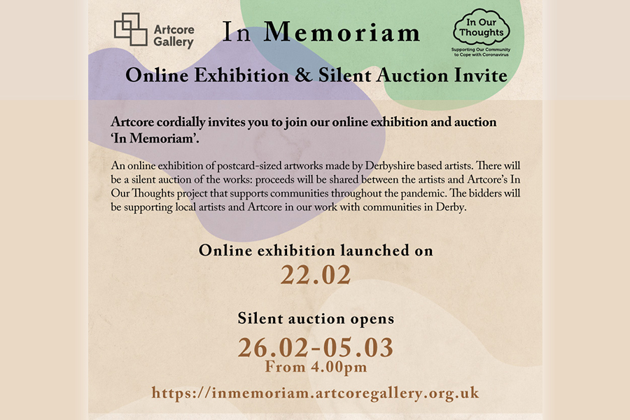 ARTICLE Silent Auction and In Memoriam by Artcore Gallery.
