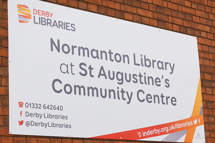 ARTICLE Normanton Library Sign.