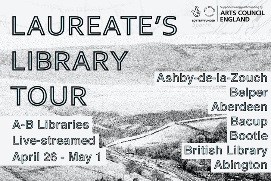 Laureate's Library Tour Graphic on CrowdCast Events Page.