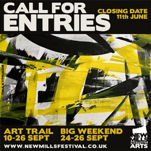 New Mills Festival 2021 - Take Part! - Call For Entries Graphic.