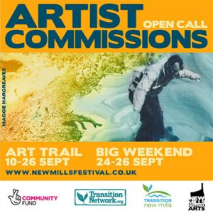 New Mills Festival 2021 - Take Part! - Artist Commissions Graphic.