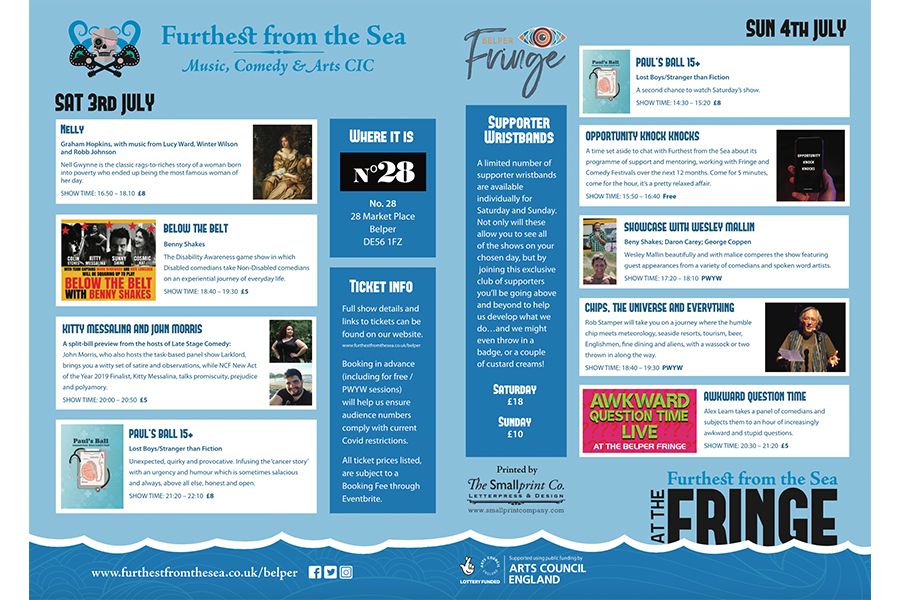 Furthest from the Sea at Belper Fringe July 3rd and 4th 2021