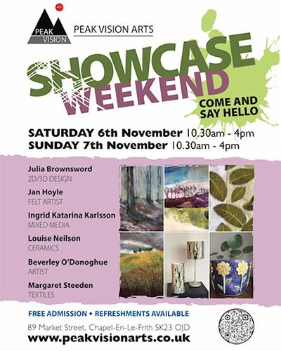 Peak Vision Arts' November showcase at Chapel en le Frith